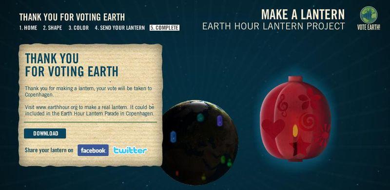Lantern earthhour
