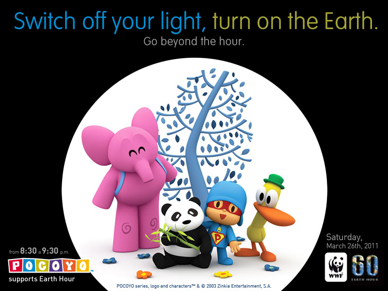 Pocoyo earth hour kids