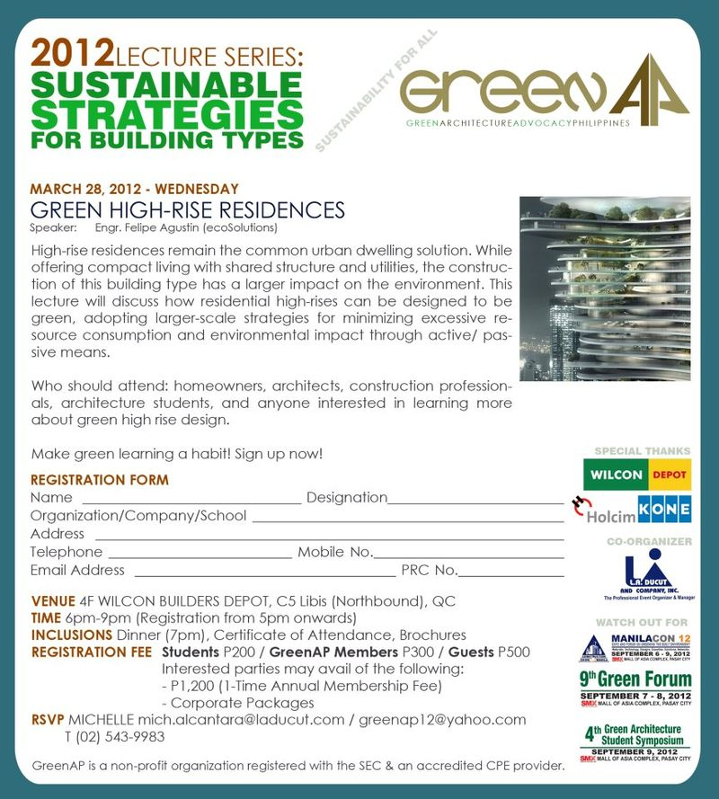 Green architecture lecture